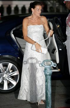 Princess Stephanie European royalty arrive for the dinner reception following the wedding of Prince Albert of Monaco to Charlene Wittstock.