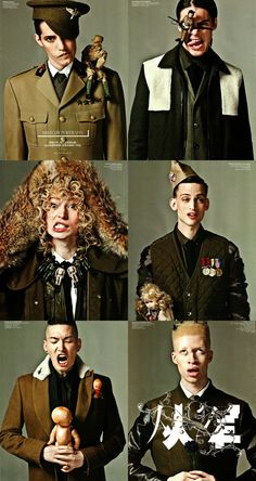 Military Coat editorial for the fall edition of GQ China