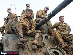 Fury - #BradPitt, Logan Lerman, #ShiaLaBeouf, Michael Pena & John Bernthal