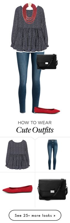 """Super simple outfit"" by sbf100 on Polyvore featuring Breckelle's, BaubleBar and Aspinal of London"