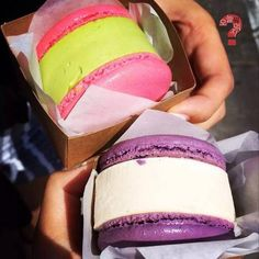 Macaron ice cream sandwiches found various places in South Korea. Wow that's what I call an ice cream sandwich!