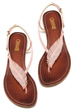 love these feather inspired sandals
