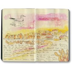 Sicily Sketch Journal | Sketches from Sicily, Italy ❤ liked on Polyvore featuring books