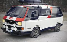"VW / Audi T25 Quattro Support vehicle. by Littlepixelâ""¢, via Flickr"