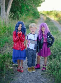Fun Taylor Joelle Descendants inspired dresses.  Perfect for Mal and Evie costumes.
