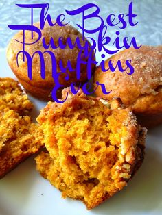 best pumpkin muffins ever! Batter can be made up the night before.