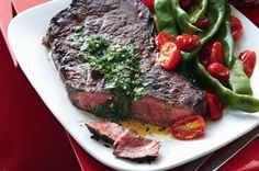 This is South American cuisine at its best - juicy chargrilled meat with a herby Argentinean sauce.