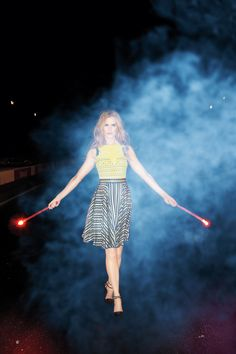 nicole with flares - photo by terry richardson
