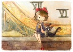 Kiki and Jiji by TheArtofLorraineYee on Etsy, $12.00