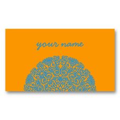 Mandala profile card business card