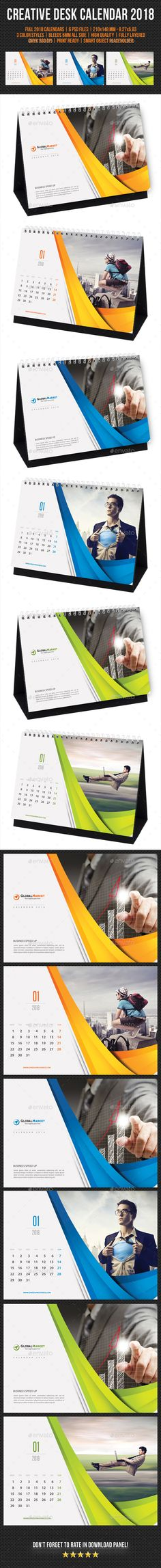 Creative Desk Calendar 2018 V11