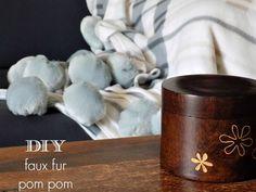 DIY faux fur pom pom by Art Decoration and Crafting