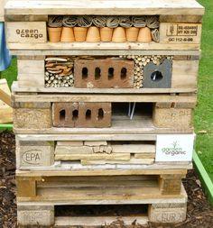 A bug house: simple to make and hospitable