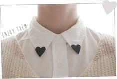diy heart collar clips