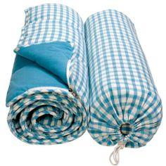 Sky blue gingham sleeping bag. £45.00 #WorldStores, #gingham, #babyblue http://www.worldstores.co.uk/p/Sky_Blue_Gingham_Sleeping_Bag.htm