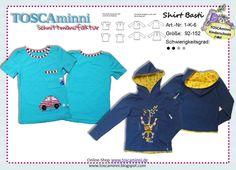Nähanleitungen Kind - 1K6 Ebook Kindershirt Basti Gr. 92-152 - ein Designerstück von TOSCAminni-Schnittmanufaktur bei DaWanda