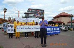 Canadian Parliament Member Supports Lawsuits Against Jiang Zemin at Edmonton Rally | Falun Dafa - Minghui.org