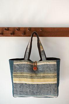 handwoven bags/ herringbone