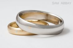 Inlay spots from each others' rings.