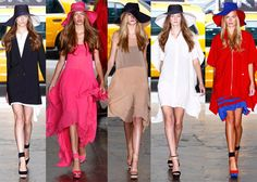 DKNY Spring 2012 - oooo i love those hats and the shoes are so cute. Love Made Visible Blog