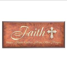 Brown Wood Faith Plaque at Kirkland's