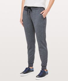 5729cd81e7 Heathered Speckled True Navy Warm Down, Lululemon Athletica, Joggers,  Sweatpants, Pants For