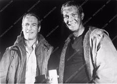 photo Paul Newman Steve McQueen behind the scenes The Towering Inferno 3278a-21