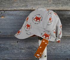 Jockey Cap reversible hat boy sun hat boy hat modern cap Toddler Sun Hat, Baby Sun Hat, Baby Hats, Toddler Boys, Baby Boy, Cute Caps, Fabric Combinations, News Boy Hat, Baby Sewing