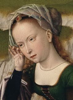 Gerard David, Netherlandish (active Bruges), first documented died 1523 -- Lamentation (Flemish, rather than Hispano-Flemish, but similar styles are seen in Spain. Italian Renaissance, Renaissance Art, Gerard David, Renaissance Portraits, Albrecht Durer, Medieval Art, Historical Costume, 15th Century, Middle Ages