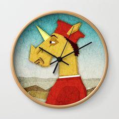 Federico Da Unicornio Wall Clock
