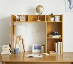 Shop at DormCo for our Classic Dorm Desk Bookshelf - Beech (Natural Wood). This dorm necessities item has plenty of shelf space for college textbooks, notebooks, and other college supplies and will add to your dorm room decor with natural wood coloring. Decor, College Desk, Bookshelf Desk, Furniture, Shelves, Bookshelves, Classic Desk, Dorm Desk, Desk Shelves