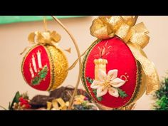 PASO A PASO ESFERA O BOLA NAVIDEÑA BORDADA EN CINTAS / DIY EMBROIDERED CHRISTMAS BALL - YouTube
