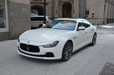White Maserati Ghibli