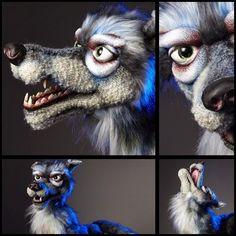 Fantastic wolf built by Norman Schneider.