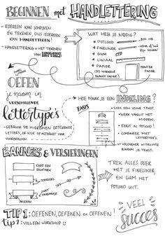Tutorial: Handlettering + TIPS – Inspireer en creëer Hand Lettering Practice, Hand Lettering Fonts, Brush Lettering, Handwriting Practice, Hand Lettering Tutorial, How To Write Calligraphy, Sketch Notes, Journal Layout, Planner