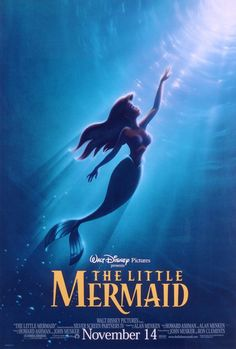 "Photo of Walt Disney Posters - The Little Mermaid for fans of Walt Disney Characters. Walt Disney Poster of Princess Ariel from ""The Little Mermaid"" Pixar, 80s Movies, Great Movies, Watch Movies, Childhood Movies, Awesome Movies, Cartoon Movies, Awesome Stuff, Disney Films"