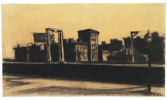 Edward Hopper (1882–1967), Study for Manhattan Bridge Loop, 1928. Crayon on paper, 8 1/2 × 11 1/16 in. (21.59 × 28.1 cm). Addison Gallery of American Art, Phillips Academy, Andover, Massachusetts; gift of the artist 1940.71
