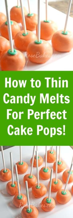 how to melt frosting for cake pops