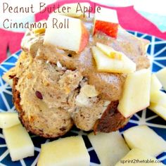 Ripped Recipes - Peanut Butter Apple Cinnamon Roll - Rather than having a 730 calorie-bomb from Cinnabon, I decided to make my own.  And then one-up them by adding peanut butter and apples.