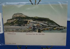 "Antique Postcard, ""Panorama from the Old Mole"" of Gibraltar 1900s by CuriosandAntiques on Etsy"
