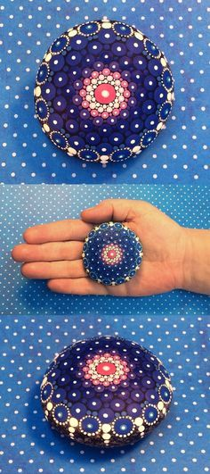 Mandala Stone (Junior) by Kimberly Vallee: Hand painted with acrylic and…
