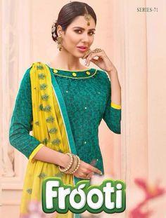 FROOTI Designer Salwar Kameez by KAPIL TEX  ₹6,930.00  Fabric: Cotton Jacquard