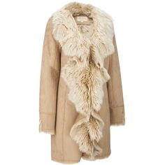 Fabulous Furs Plush Faux-Fur Lined Drape Front Jacket - Faux-Fur -... (€595) ❤ liked on Polyvore featuring outerwear, jackets, drape front jacket, animal jackets, wilsons leather, faux fur lined jackets and synthetic jacket