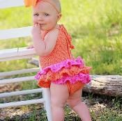 Sun Suit , Baby Dress Romper Crochet  - via @Craftsy