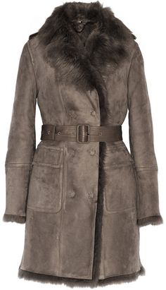 Burberry Leather-trimmed shearling coat on shopstyle.com