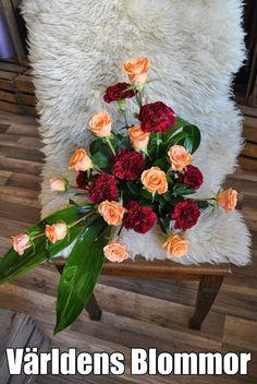 Begravning, begravningsdekoration Arrangemang Dekoration Världens Blommor