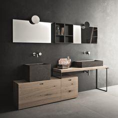 Composition de bain sur le sol avec un design moderne Novello Craft