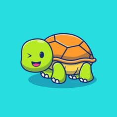 Cute Turtles, Illustration, Animal Design, Royalty Free Stock Photos, Concept, Animals, Fictional Characters, Baby, Design Illustrations