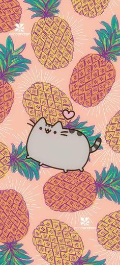 I L❤️ve pinapple's +Pusheen! Gato Pusheen, Pusheen Love, Pusheen Stuff, Kawaii Wallpaper, Cat Wallpaper, Cute Wallpaper Backgrounds, Samsung Galaxy Wallpaper, Cellphone Wallpaper, Iphone 7 Wallpapers
