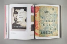 "Covers for Stieg Larsson books, as seen in designer Peter Mendelsund's monograph ""Covers."" #books #design"